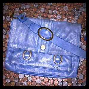 Anthropologie Lucky Penny Distressed Leather Bag